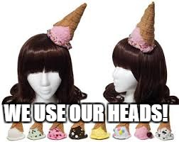 WE USE OUR HEADS! | made w/ Imgflip meme maker