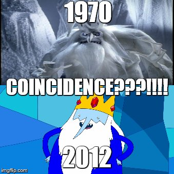 1970 2012 COINCIDENCE???!!!! | image tagged in adventure time,comics/cartoons,christmas,funny memes,history | made w/ Imgflip meme maker