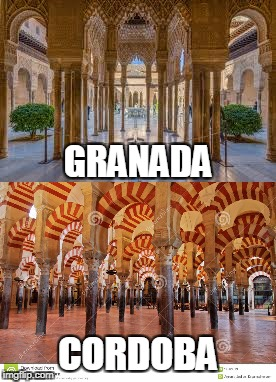 Overwhelming islamic beauty without pictures. Americans, you have no clue! (For Anonymous Meme Week) | GRANADA CORDOBA | image tagged in anonymous meme week | made w/ Imgflip meme maker