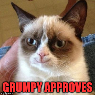 GRUMPY APPROVES | made w/ Imgflip meme maker