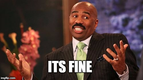 Steve Harvey Meme | ITS FINE | image tagged in memes,steve harvey | made w/ Imgflip meme maker