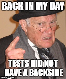 "Tests Before It Was ""Cool"" 