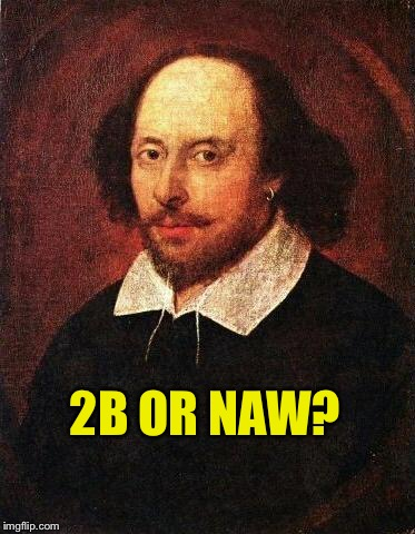 Shakespeare | 2B OR NAW? | image tagged in shakespeare | made w/ Imgflip meme maker
