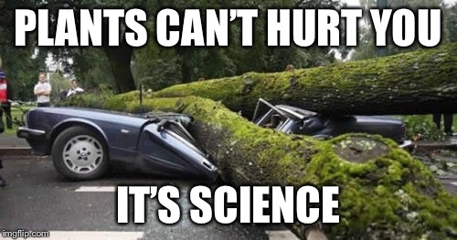 PLANTS CAN'T HURT YOU IT'S SCIENCE | made w/ Imgflip meme maker