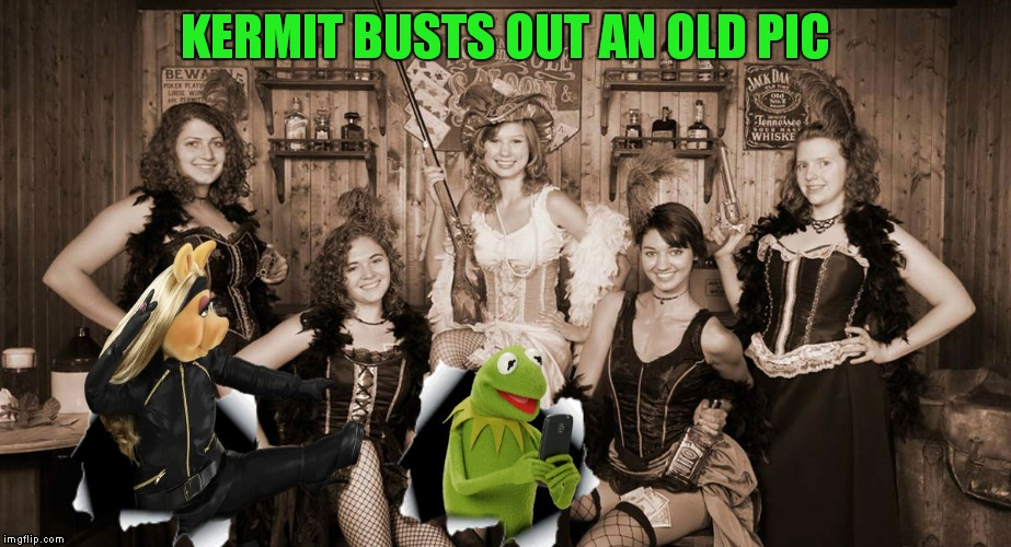KERMIT BUSTS OUT AN OLD PIC | made w/ Imgflip meme maker