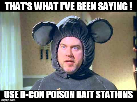 THAT'S WHAT I'VE BEEN SAYING ! USE D-CON POISON BAIT STATIONS | made w/ Imgflip meme maker