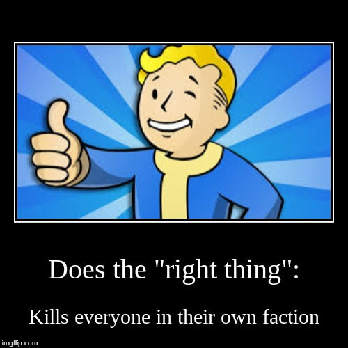 "Does the ""right thing"": 