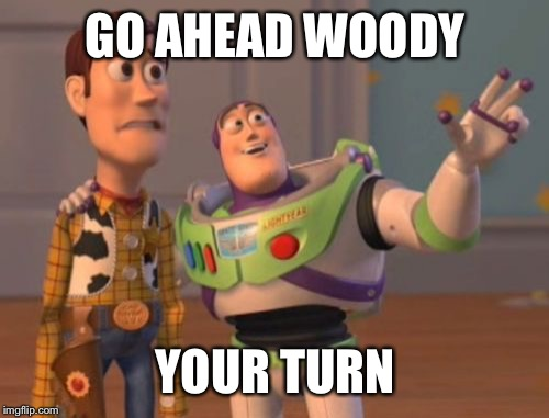 X, X Everywhere Meme | GO AHEAD WOODY YOUR TURN | image tagged in memes,x,x everywhere,x x everywhere | made w/ Imgflip meme maker