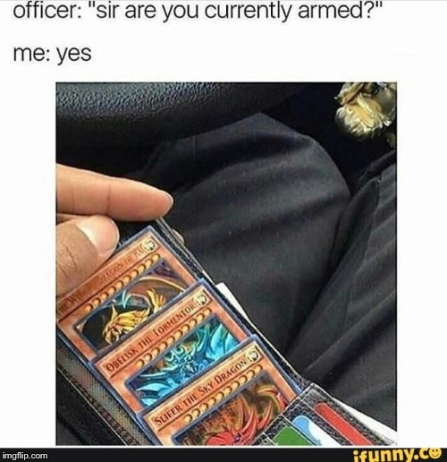 image tagged in cops,yugioh | made w/ Imgflip meme maker
