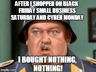 AFTER I SHOPPED ON BLACK FRIDAY SMALL BUSINESS SATURDAY AND CYBER MONDAY I BOUGHT NOTHING, NOTHING! | image tagged in i know nothing,shopping,truth | made w/ Imgflip meme maker