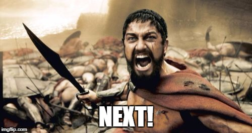 Sparta Leonidas Meme | NEXT! | image tagged in memes,sparta leonidas | made w/ Imgflip meme maker