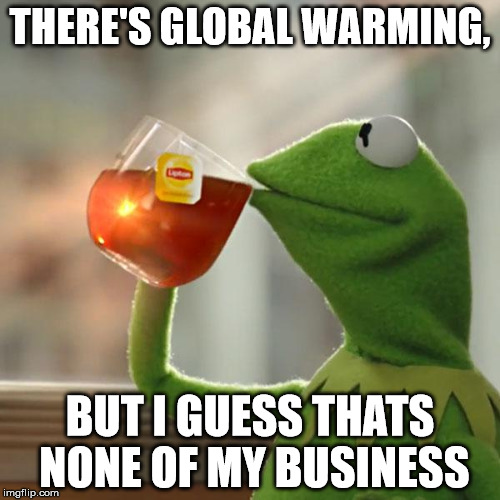 But Thats None Of My Business Meme | THERE'S GLOBAL WARMING, BUT I GUESS THATS NONE OF MY BUSINESS | image tagged in memes,but thats none of my business,kermit the frog | made w/ Imgflip meme maker