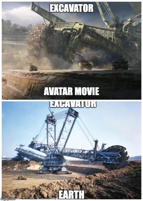 image tagged in avatar,earth,excavator,mine,quarry | made w/ Imgflip meme maker