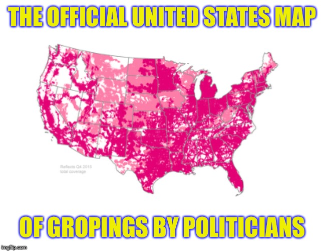 THE OFFICIAL UNITED STATES MAP OF GROPINGS BY POLITICIANS | image tagged in repost,memes,funny,groping | made w/ Imgflip meme maker