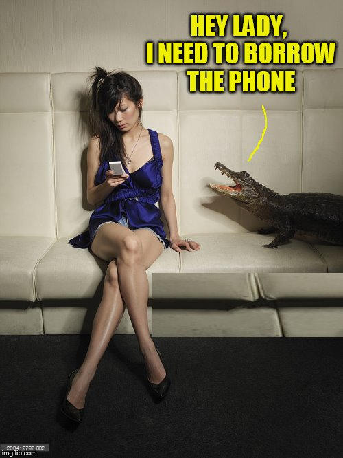 HEY LADY, I NEED TO BORROW THE PHONE | made w/ Imgflip meme maker