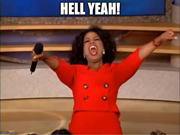 Oprah You Get A Meme | HELL YEAH! | image tagged in memes,oprah you get a | made w/ Imgflip meme maker