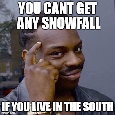 Thinking Black Guy | YOU CANT GET ANY SNOWFALL IF YOU LIVE IN THE SOUTH | image tagged in thinking black guy | made w/ Imgflip meme maker