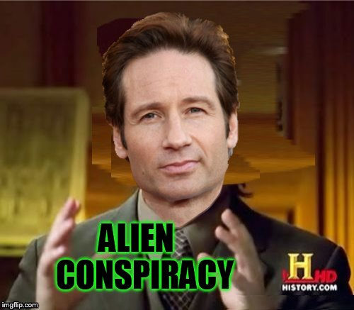 Fox Aliens | ALIEN CONSPIRACY | image tagged in fox aliens | made w/ Imgflip meme maker