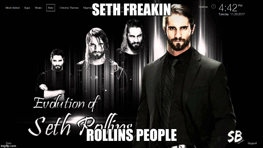 seth freakin rollins | SETH FREAKIN ROLLINS PEOPLE | image tagged in seth rollins,the sheild,roman reigns,dean ambrose | made w/ Imgflip meme maker