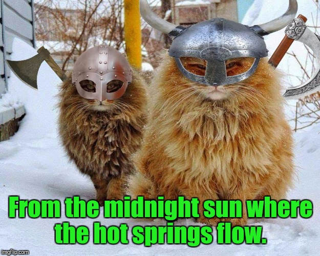 From the midnight sun where the hot springs flow. | made w/ Imgflip meme maker