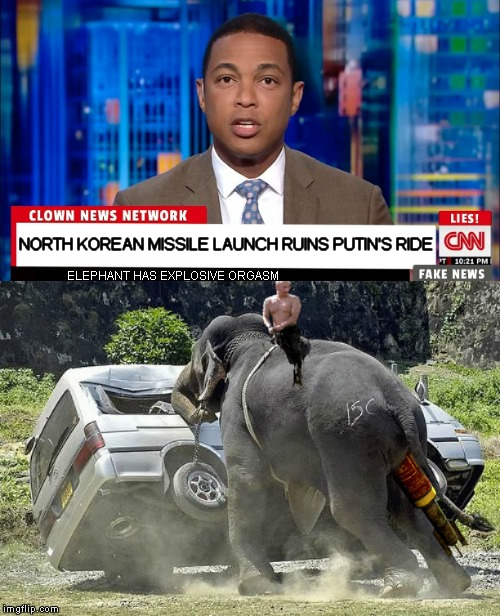 No elephant's were harmed during the making of this meme... | NORTH KOREAN MISSILE LAUNCH RUINS PUTIN'S RIDE ELEPHANT HAS EXPLOSIVE ORGASM | image tagged in north korea,missile,epic fail,elephant,oops | made w/ Imgflip meme maker