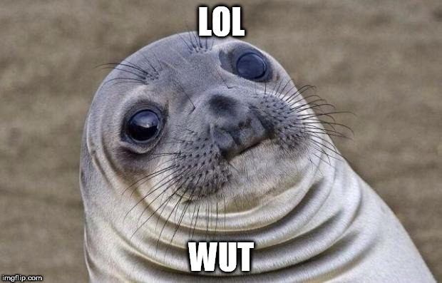 Awkward Moment Sealion Meme | LOL WUT | image tagged in memes,awkward moment sealion | made w/ Imgflip meme maker