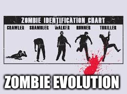 ZOMBIE EVOLUTION | image tagged in funny memes | made w/ Imgflip meme maker