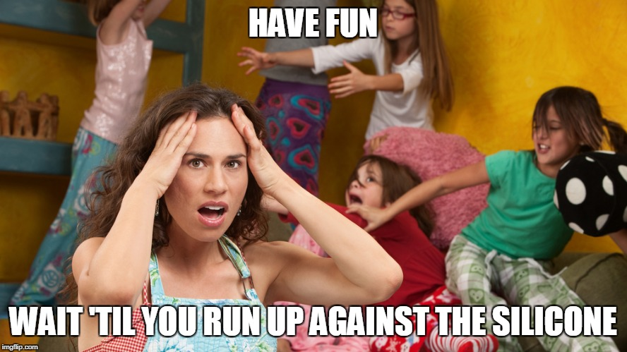 HAVE FUN WAIT 'TIL YOU RUN UP AGAINST THE SILICONE | made w/ Imgflip meme maker