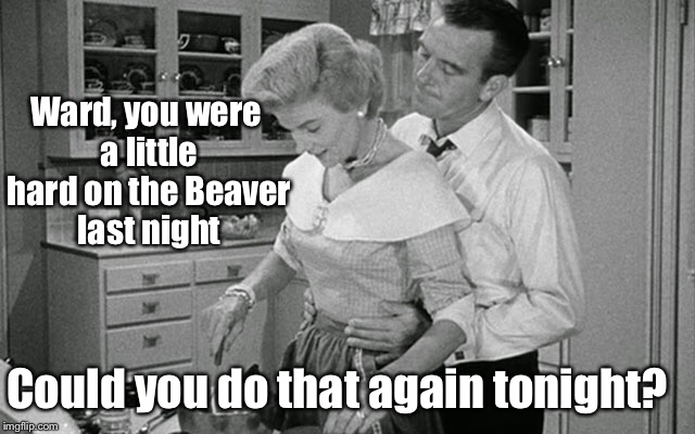 Ward, you were a little hard on the Beaver last night Could you do that again tonight? | made w/ Imgflip meme maker