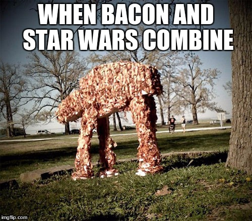 WHEN BACON AND STAR WARS COMBINE | image tagged in memes,bacon,star wars | made w/ Imgflip meme maker