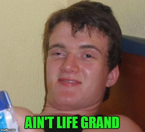 10 Guy Meme | AIN'T LIFE GRAND | image tagged in memes,10 guy | made w/ Imgflip meme maker
