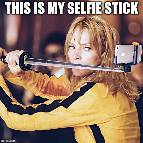 THIS IS MY SELFIE STICK | made w/ Imgflip meme maker
