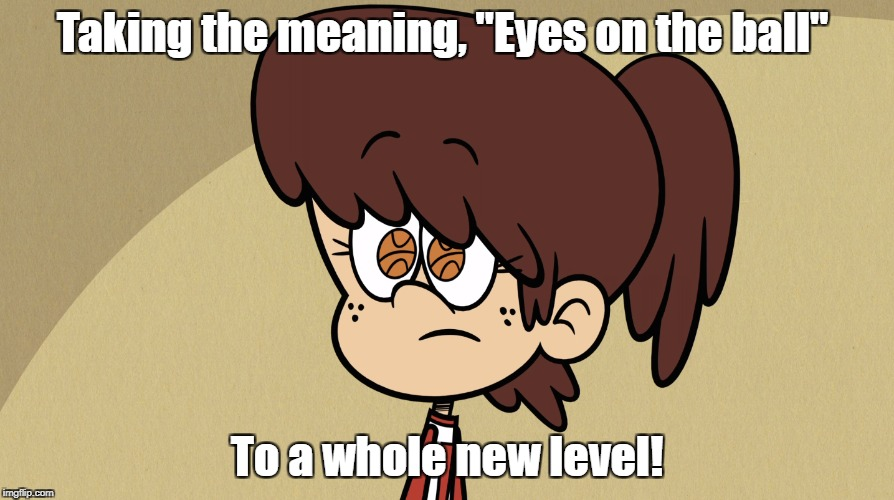 "Eyes on the ball | Taking the meaning, ""Eyes on the ball"" To a whole new level! 