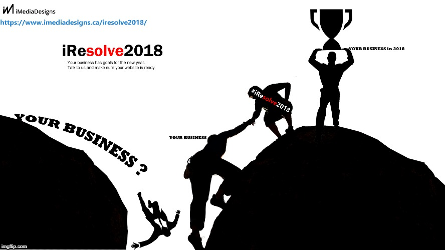 iRESOLVE2018 - Resolve Business Issues for 2018 | image tagged in resolve for 2018,resolutions for the new year,new resolutions | made w/ Imgflip meme maker
