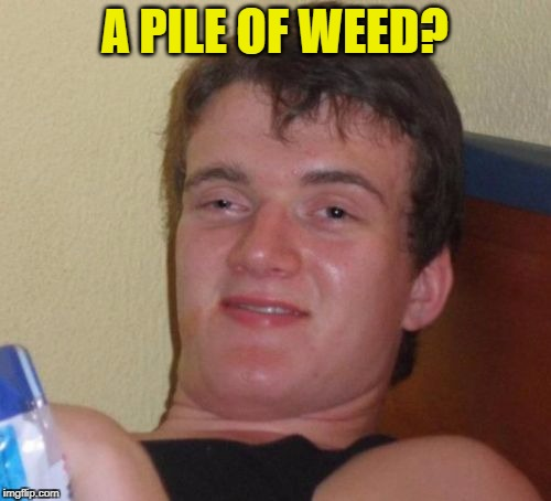 10 Guy Meme | A PILE OF WEED? | image tagged in memes,10 guy | made w/ Imgflip meme maker