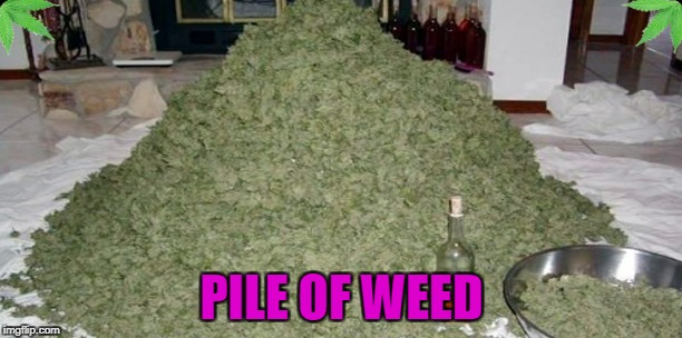 PILE OF WEED | made w/ Imgflip meme maker