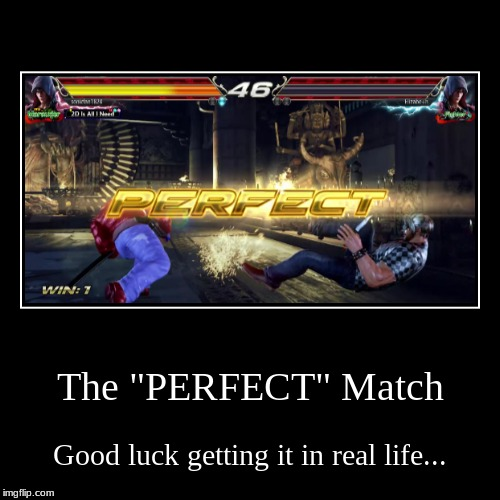 "A Demotivational on ""Perfect"" (Again, this screenshot is mine) 