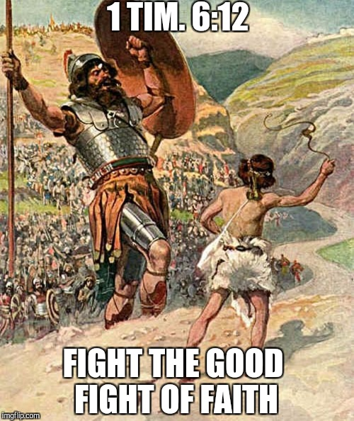 Fight | 1 TIM. 6:12 FIGHT THE GOOD FIGHT OF FAITH | image tagged in god,jesus,holyspirit,catholic,bible,christmas | made w/ Imgflip meme maker