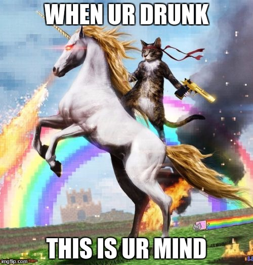 Welcome To The Internets Meme | WHEN UR DRUNK THIS IS UR MIND | image tagged in memes,welcome to the internets | made w/ Imgflip meme maker