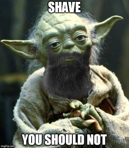 Star Wars Yoda Meme | SHAVE YOU SHOULD NOT | image tagged in memes,star wars yoda | made w/ Imgflip meme maker