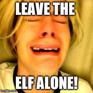Leave Brittney alone | LEAVE THE ELF ALONE! | image tagged in leave brittney alone | made w/ Imgflip meme maker