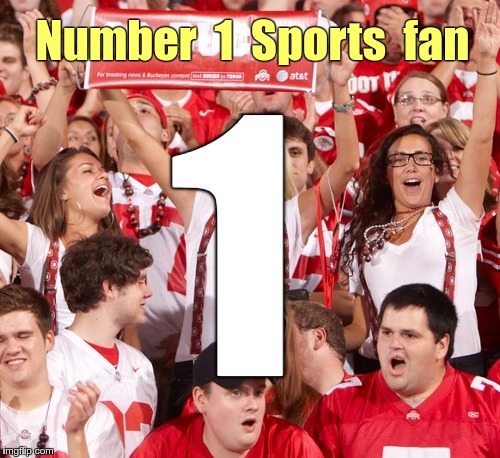 Number 1 Sports fan | Number  1  Sports  fan 1 | image tagged in fans arms raised 500w,memes,sports fans | made w/ Imgflip meme maker