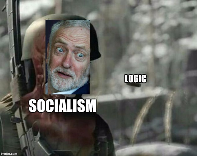 Sniper Elite Headshot | SOCIALISM LOGIC | image tagged in sniper elite headshot | made w/ Imgflip meme maker