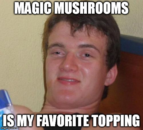 10 Guy Meme | MAGIC MUSHROOMS IS MY FAVORITE TOPPING | image tagged in memes,10 guy | made w/ Imgflip meme maker