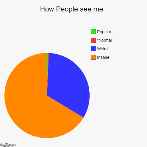 "How People see me  | Insane, Weird, ""Normal"", Popular 