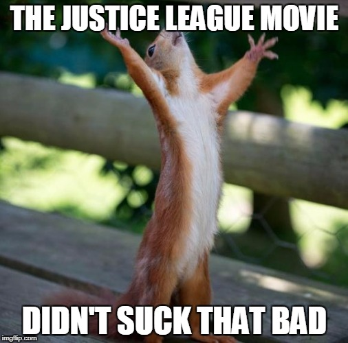 Hallelujah | THE JUSTICE LEAGUE MOVIE DIDN'T SUCK THAT BAD | image tagged in hallelujah,dc comics,justice league,funny,funny meme | made w/ Imgflip meme maker
