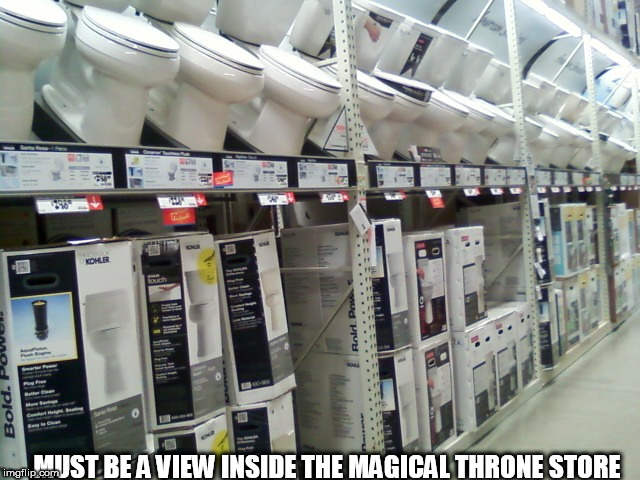 MUST BE A VIEW INSIDE THE MAGICAL THRONE STORE | made w/ Imgflip meme maker