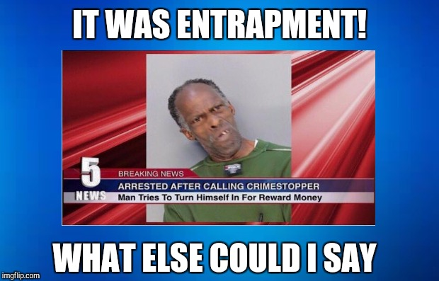 IT WAS ENTRAPMENT! WHAT ELSE COULD I SAY | made w/ Imgflip meme maker