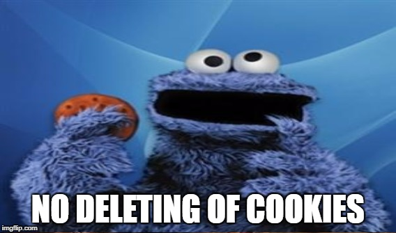 NO DELETING OF COOKIES | made w/ Imgflip meme maker