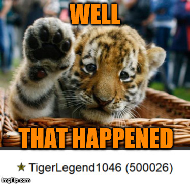 500k | image tagged in tigerlegend1046,500k,thank you so much,thank you,half a million,omg | made w/ Imgflip meme maker